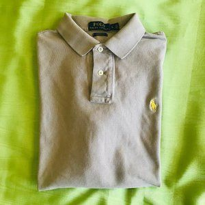 Polo by Ralph Lauren Shirts - Ralph Lauren Taupe Iconic Mesh Polo Shirt Sz L